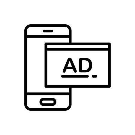 Icon for sponsored ,ads Illustration
