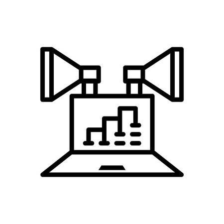 Icon for digital ,marketing