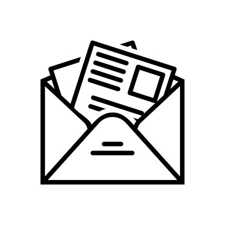 Icon for newsletter,template Illustration