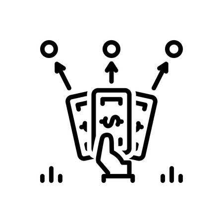 Icon for installment,portion of debts