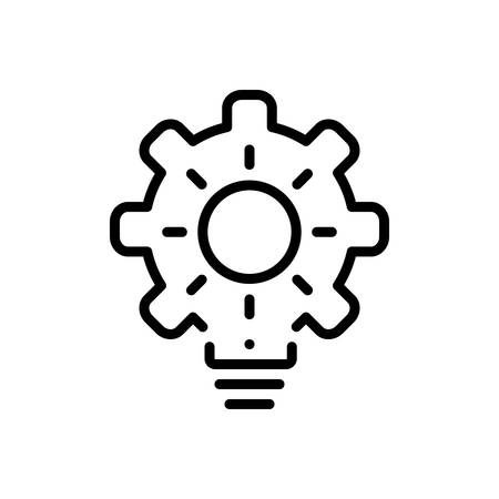 Icon for proactive,concentration Illusztráció