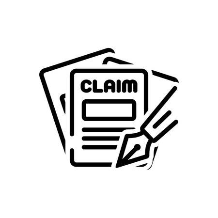 Icono de reclamaciones, dinero Ilustración de vector