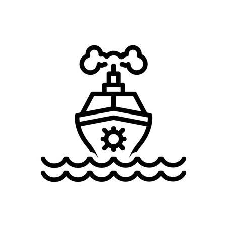 Icon for ship, marine Stock Illustratie