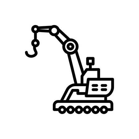 Icon for Crane,construction Stok Fotoğraf - 125982434