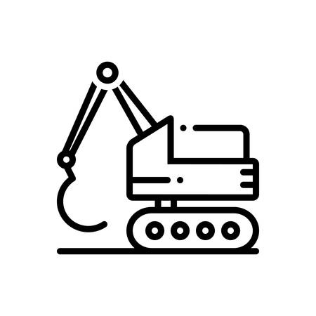 Icon for excavator,construction Иллюстрация