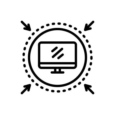 Icon for computer,protected