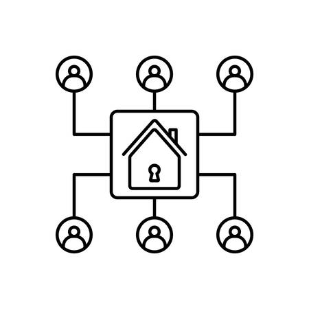 Organization icon Ilustrace