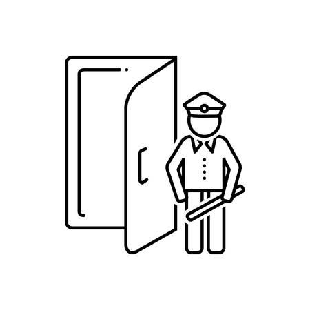 Doorman icon Illusztráció