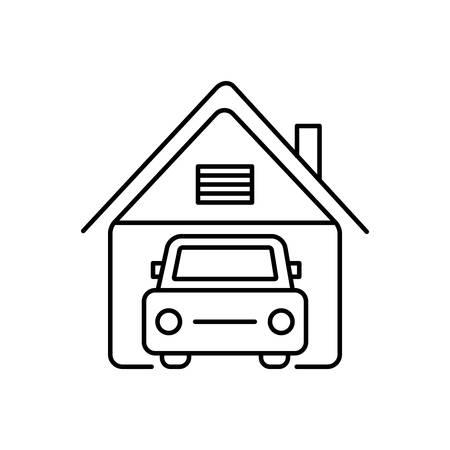 Garage icon Illusztráció