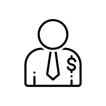 Icon for salesperson,salesman