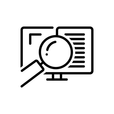Icon for auditing,auditor Stock Illustratie