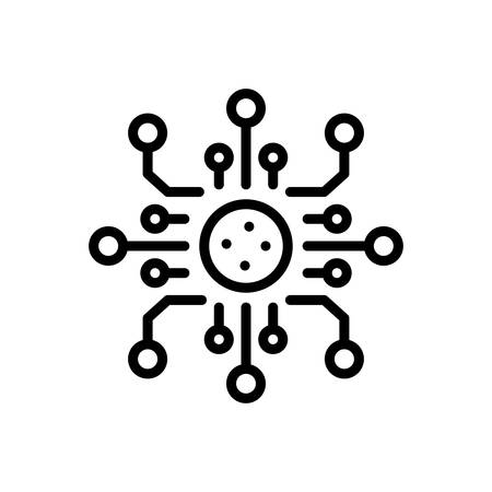 Icon for digitalization,technology  イラスト・ベクター素材