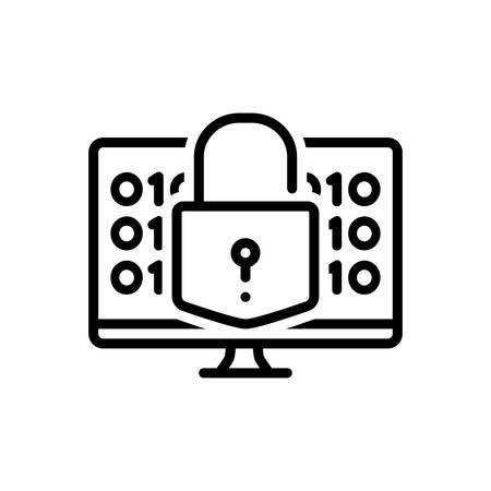 Icon for decrypt,protection Ilustracja