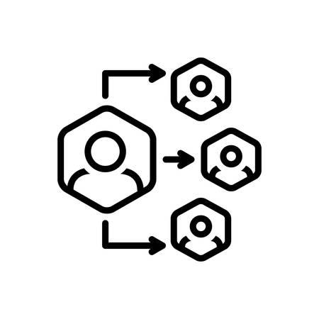Icon for delegation,organization