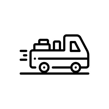 Icon for deliverable,deliver Illustration