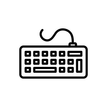 Icon for keyborad,clavier Vector Illustration
