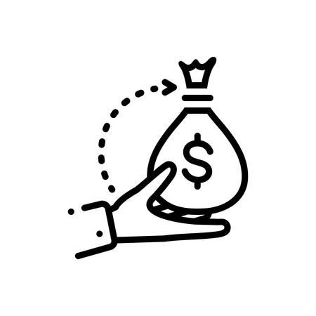 Icon for borrower,loan Ilustracja