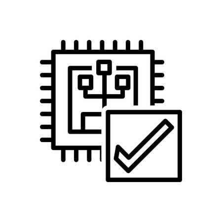 Icon for verify,calibrate