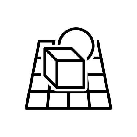 Icon for alpha,blending Ilustração
