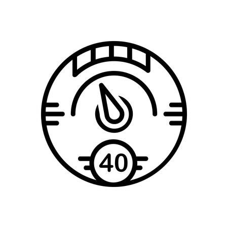 Icon for digital,gauge 向量圖像
