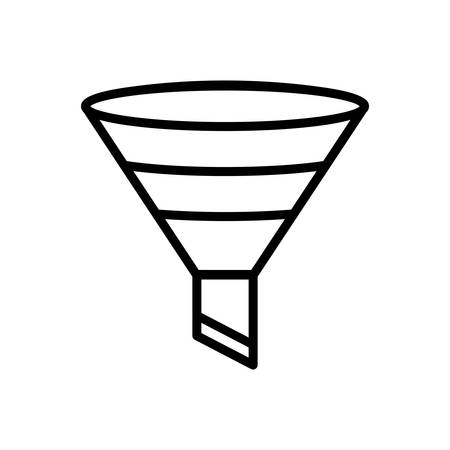 Icon for filtering,funnel Illustration