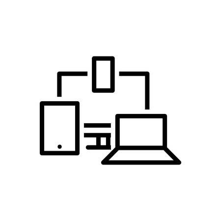 Icon for responsive,design Ilustrace