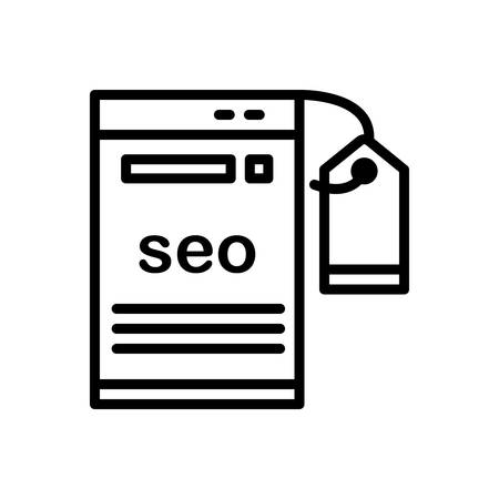 Icon for seo,tagging Illustration
