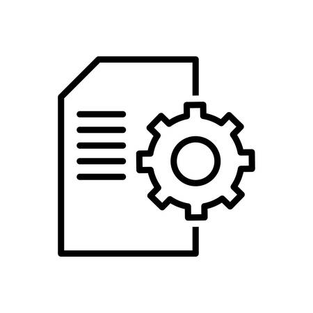 Icon for contents,management Иллюстрация