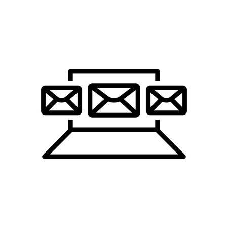 Icon for email,marketing Illusztráció