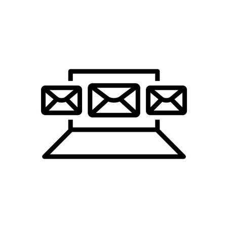 Icon for email,marketing Illustration