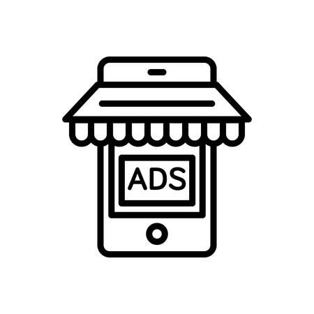 Icon for mobile,marketing Illustration