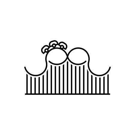 Icon for roller coaster,roller