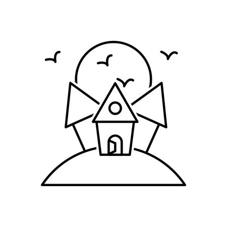 Icon for scary house ,scary