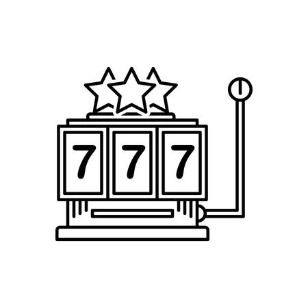 Icon for slot machine,gamble