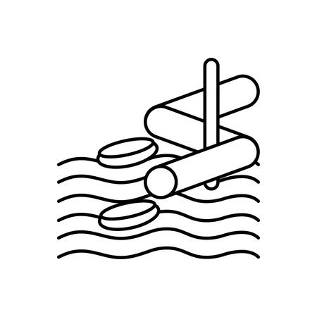 Icon for aqua park,water park