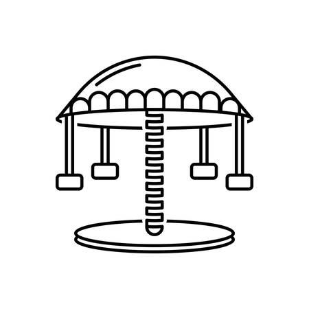 Icon for carousel ,amusement park Иллюстрация
