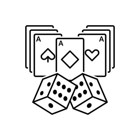 Icon for casino cards,entertainment