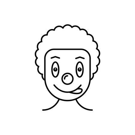 Icon for clown,circus Ilustrace