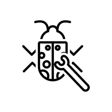 Icon for bug ,fixing Illustration