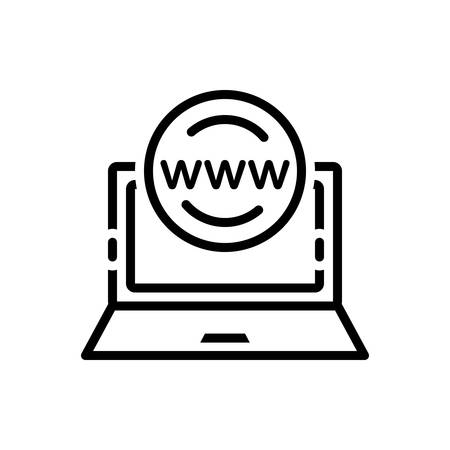 Icon for application,browser Illustration