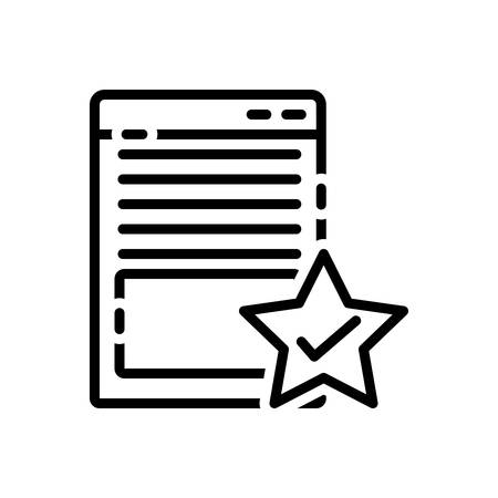 Icon for page,quality Illustration
