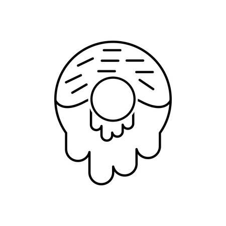 Icon for donuts,dessert Çizim