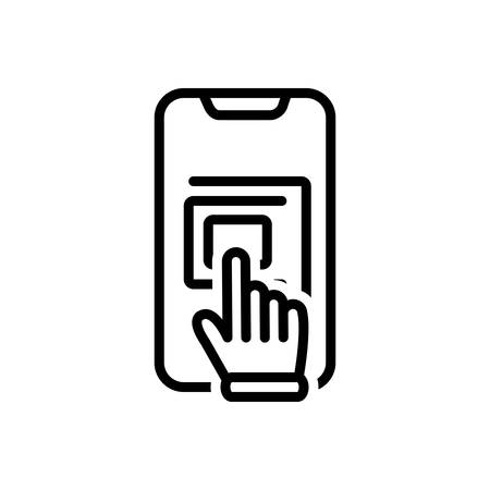 Icon for touchscreen,hand