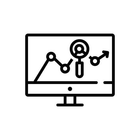 Icon for traffic analysis Illustration