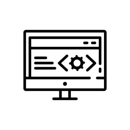 Icon for web,doveloper Illustration