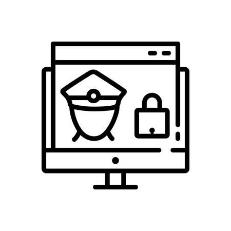 Icon for web,guard Illustration
