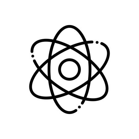 Icon for atomizing,molecules Иллюстрация