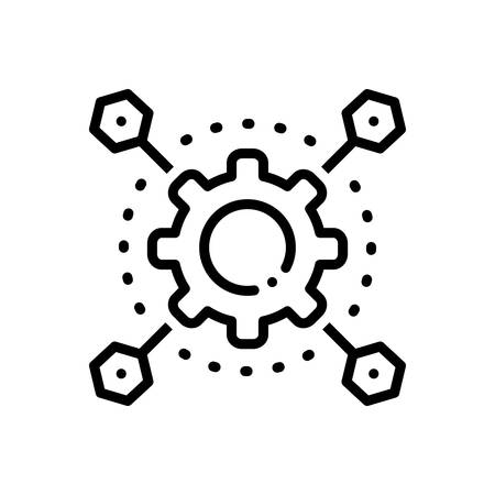 Icon for automatization,technology