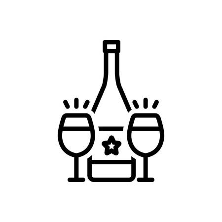 Icon for cava ,wine