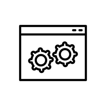 Icon for custom,software Illustration